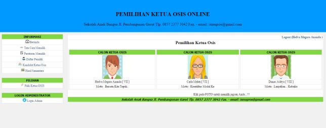 Pemilihan Ketua OSIS Berbasis Web